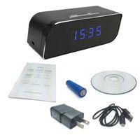 Wi-Fi caméra cachée Spy Clock 1080P HD Motion activé application d'alarme vidéo en temps réel à distance de surveillance pour la sécurité à domicile Caméra IP sans fil
