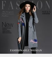 Wholesale New Arrival Autumn Winter women sweater coat embroidery Medium style cardigan