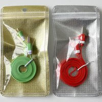 Wholesale Mobile Phone Accessories Package Non woven Resealable Plastic Retail Packaging For USB Aux Cable Earphones