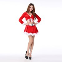 Wholesale 2016 Women Dress Tunic Christmas Sexy Cosplay Lovely Costumes Role play Role play animated cartoon Costumes