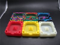 Wholesale Colorfull Heat Resistant Eco friendly custom unfired silicone cigarette ashtray High temperature promotional gift portable ashtray