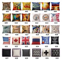 Wholesale Superhero Cushion Cover Chinese Style Cotton Throw Pillow Case Spring Color Pillowcase Flag Cushion cover Wild animal