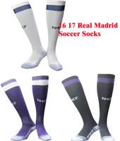 Wholesale Real Madrid soccer socks adult sport socks men s Knee High cotton soccer stocking thai quality Thicken Towel Bottom long hose