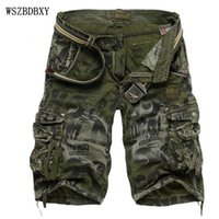 Wholesale Shorts Mens Bermuda Short Camouflage Printing Men Homme Multi Pocket Cargo Shorts Casual Loose