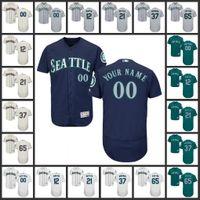 ariel black - Seattle Mariners Jerseys Leonys Martin Taylor Motter Ariel Miranda James Paxton Flex Base Baseball Jerseys Stitched Logos