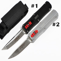 bags manufacture - 2016 Newest Andy Manufacture Paladin Survival Tactical Knife AUTO D2 Satin Blade EDC Pocket Knife Gift Knives with Nylon Bag