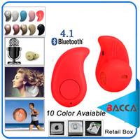 оптовых headphones-China Red Sport Running S530 Мини Stealth Беспроводная Bluetooth 4.0 Наушники Стерео наушники музыка гарнитура Розничная коробка для iphone7 7plus