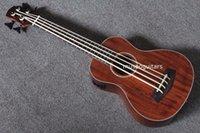 Wholesale quot Concert Ukulele Bass Mini Acoustic Uke Handcraft Solid Acacia Wood