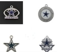 Wholesale 4 Styles Football Charm Dallas Cowboys Jewelry