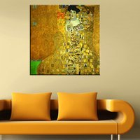 bauer paintings - Gustav Klimt Adele Bloch Bauer Hand painted Abstract Portrait Art oil painting Home Wall Decor On High Quality Canvas custom size
