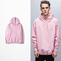 Wholesale Concise Style Men Women Long Sleeve Pullover Sweatshirt Classic Street Dancer Cotton Warm Pink Hoodies