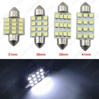 Wholesale 50pcs White SMD mm mm mm mm Car Festoon Dome Reading LED Light Bulbs