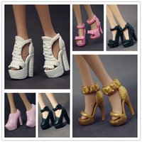 Wholesale Pair Doll Shoes Mix Style Mix Color Shoes For Barbie Doll