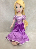 0-12 Months Girls Plush Classic Fashion Princess Tangled Rapunzel Plush Dolls For Girls 50CM Kids Baby Stuffed Toys Children Christmas Gifts