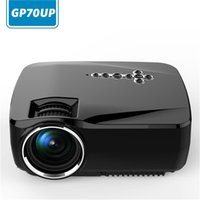 analog theater - Projector GP70UP Android Lumens Analog TV LED Projector Wifi Projector Support x1080P for Home Theater Smart TV Box