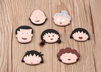 Wholesale 20 New Style Novelty Cartoon Chibi Maruko Chan Animal Design Fridge Magnet Soft PVC Magnetic Sticker Cute Blackboard Magnets Q0416