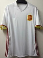 Wholesale Camisetas de futbol spain best thailand quality jerseys white spain jerseys shirts