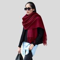 Wholesale 2016 Winter Scarves Wool Warm Shawls Cotton Designer Tassel Women Wraps