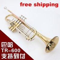 Envío libre al por mayor-Libre Bach TR-600 Trompeta Bach TR-600 tipo pequeña serie de instrumentos de cobre cupronickel en la sección inventario Bb trompeta