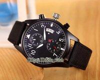 Bracelet en cuir pilote France-Super Clone Brand Luxury Big Pilot's Watch IW388007 PVD Noir Montre d'Aviateur Automatique Montre Homme Bracelet en cuir Nouveau Sport Montres