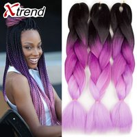 Wholesale 24 quot g yaky ombre braiding hair box braid ombre synthetic braiding hair crochet extensiones sintetico