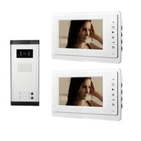 Wired audio door phone - Xinsilu Apartment Wired Intercom Entry Access System Inch Monitor Video Door Phone Audio Visual Units porteiro eletronico