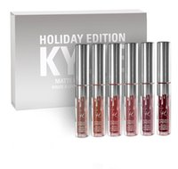 best holidays - Hot Sell kylie holiday edition mini kit KYLIE lipgloss Jenner Matte Liquid Lipstick Lasting best christmas gift