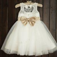 Les plus récentes robes de filles pour filles pour filles Lace BOW Robe de princesse pour les filles Vêtements pour enfants Robes de bal en été Enfant