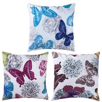 Wholesale ASLT The First Fashion Style Classic Vivid Butterfly Throw Pillow Case for Home Decro
