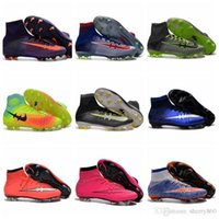 Wholesale CR7 Mercurial Superfly FG Mens Football Boots Kids Soccer Shoes Magista Obra Women Youth Soccer Cleats Children Boys Ronaldo Soccer Boots
