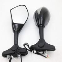 Wholesale New urn Signal Integrated Mirrors Black For KAWASAKI ZX10R ZX R ER F Z750S Ninja