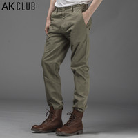 ak flat - Mens Clothing AK CLUB Brand New Men s Pants Classic All match Casual Pants Cotton Khaki Pants Regular Fit Men Pants
