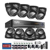 al por mayor sistemas de cámaras de seguridad hogar al aire libre-SANNCE 1080N AHD 8CH DVR 1.0MP 720P Cámaras CCTV al aire libre Sistema de Seguridad para el Hogar
