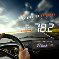 Wholesale Universal Car Auto Hud Head Up Display Projector With Odb2 Obd ii Interface Speed Warning System Quality Vehicle Speed Alarm