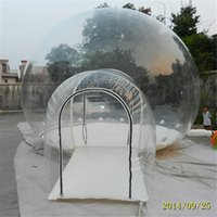 backyard tents - Backyard Half Clear Family Camping Tents Portable Hotel Bubble Tree Tent Inflatable Camping Tent Outdoor Transparent Plastic Tent