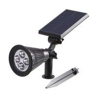 adjustable led spotlight - Black LED Solar Spotlight Outdoor Lumens Adjustable Waterproof Path Lights Wall Lights with Light Control