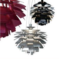achat en gros de lampes suspendues au plafond conduit modernes-Nouveau Style Européen Moderne Simplicité Simplicité Aluminium 40CM Poul Henningsen PH Lumière Plafonnier Plafonnier Suspendue Suspension