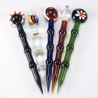 Cheap 5.5 inches Glass dabber Best high borosilicate glass 25mm glass bongs tool