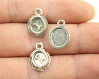 antique dishes - WYSIWYG mm antique silver plated Top Dog dish charms