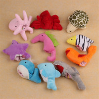 Wholesale HOT Ocean Soft Animal Puppet Baby Girl Boy Finger Toys Plush Toy SEP