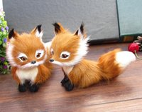 Wholesale Plush dog selling big head simulation fox cute fox leather handmade crafts