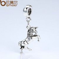 amp jewelry - BAMOER Brand Original Silver Plated Horse Animal Charms Women DIY Fashion Jewelry Pendant amp Necklace Accessories PA5297