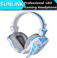 Casque de jeu professionnel LED Light Surround Bass Stereo Headband Game wired Headset with Microphone pour PC Ordinateur portable