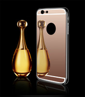 Wholesale For iPhone P Electroplating Mirror Soft TPU Cell Phone Cases Ultra Thin Phone Back Cover For iPhone s P TY