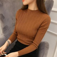 best slimming tights - New Best Sale Spring Fashion Women sweater high elastic Solid Turtleneck sweater women slim sexy tight Bottoming Knitted Pullovers