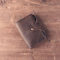 Wholesale Handmade Leather Vintage Loose Leaf Notebook Papela Organizer Genuine Cowhide Diary Notepad Storage Bag A7 Kraft Paper Personalized Gift PC