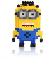 Wholesale Diamond Small Granular Building Blocks DIY Creative Assembly Small Yellow People Toys Plastic Toys Harmless Brain Game