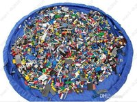 Wholesale Hot portable kids play mat toy storage bag cm Organizer Rug Bag For Dolls play mat large storage bag
