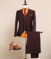 Tuxedos best winter wear - Shinne Wine Red Wool Shine Mans Formal Suit Smoking Casamento Customized Grooms Wedding Suit Coat Pants Vest Burgundy Tuxidos Best Man Wea