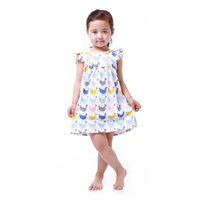 Summer baby girl chickens - Baby Girls Dress Clothes Summer Chicken Pattern Baby Clothes Dress Toddler Outfit T Girls Party Dress